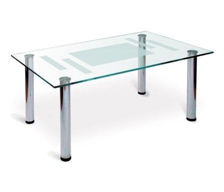 Журнальный стол Робер 10МЖурнальные столы<br>Журнальный стол Робер 10Мизготовлен изстекла и металла. Отлично подойдет для офиса или личного кабинета. Строгие формы и сочетание цветов делает эту модель идеальным решением для помещений в стиле хай-тек и минимализм.<br>