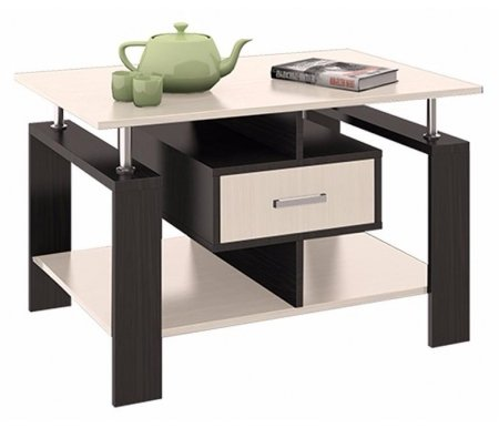Журнальный стол тип 3 107.003Журнальные столы<br>Удобный журнальный столик отлично впишется в интерьер комнаты. Цвет ручки - серый металлик.<br>