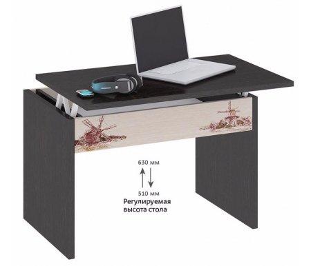 Журнальный стол с рисунком тип 7 107.007Журнальные столы<br>Удобный журнальный столик-трансформер отлично впишется в интерьер комнаты.<br>