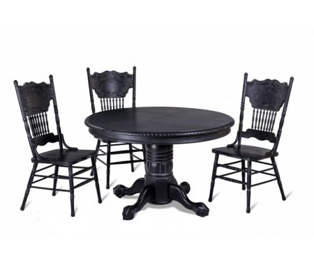 Обеденный стол HNDT - 4872 SWC черный антик с патинойДеревянные столы<br><br>