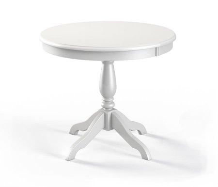 Обеденный стол Медведь белая эмальДеревянные столы<br>Материал столешницы: шпон дуба.<br>Ножки: массив березы.<br>
