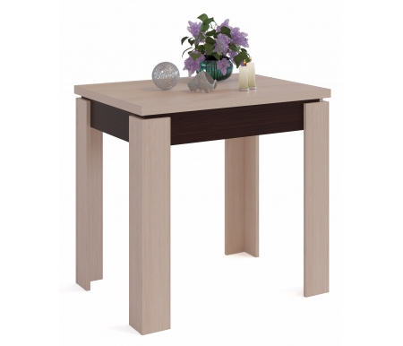 Обеденный стол СО-1 венге / беленый дубДеревянные столы<br>Столешница изготовлена из ЛДСП, толщиной 16 мм.<br>