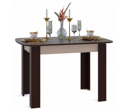 Обеденный стол СО-3 беленый дуб / венге Сокол