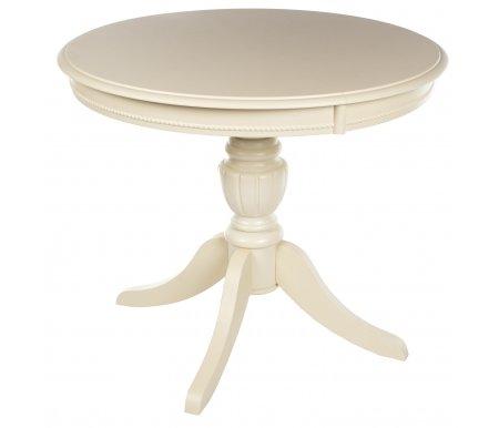 Стол MIK-2014T-900R SOMMER ivory (7119)Деревянные столы<br>Cтол в размере 90 см x 90 см (раскл. до 125 см).<br>