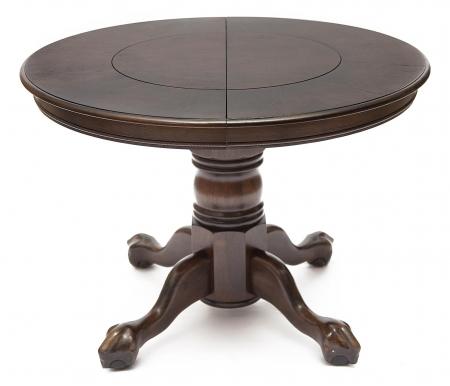 Стол обеденный-раскладной DNDT-4260-CBCДеревянные столы<br>Стол раскладывается до 153 см. <br><br> Вставка из МДФ имитирует кожу крокодила.<br>