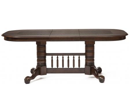 Стол обеденный-раскладной DNDT-4296-RBCДеревянные столы<br>Стол раскладывается до 199 см и 245 см. <br><br> Вставка из МДФ имитирует ротанг.<br>