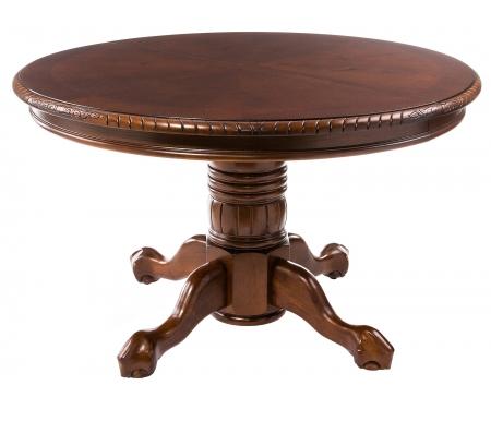 Купить Стол обеденный-раскладной Тетчер, HNDT-4872-SWC, темный орех (HN GLAZE) / темный орех (HN GLAZE)