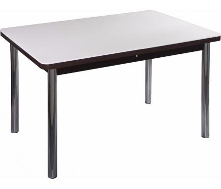Стол Альфа ПР-1 КМ венге / км 04 / ножка 02 хромДеревянные столы<br><br>