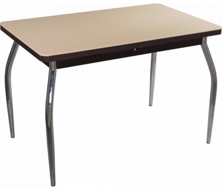Стол Альфа ПР-1 КМ венге / км 06 / ножка 01 хромДеревянные столы<br><br>