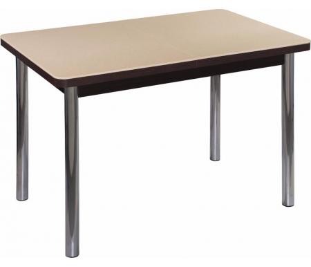 Стол Альфа ПР-1 КМ венге / км 06 / ножка 02 хромДеревянные столы<br><br>