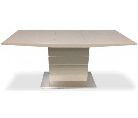 Стол COOPERДеревянные столы<br>Стол COOPER раскладывается до 160 см благодаря центральной вставке, которая скрыта внутри стола. <br><br> Столешница и основание покрыты лаком.<br><br>Длина: 120 см (раскладывается до 160 см)<br>Ширина: 80 см<br>Высота: 75 см<br>Материал каркаса: нержавеющая сталь, МДФ<br>Цвет каркаса: песочный (FASB)<br>Материал столешницы: МДФ, покрытый лаком<br>Цвет столешницы: песочный (FASB)