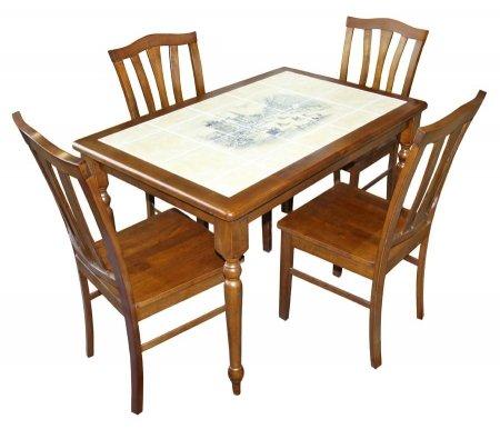 Стол CT 3045P темный дуб / город-2Деревянные столы<br><br>