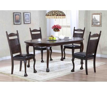 Стол обеденный DNDT-4280-MPCДеревянные столы<br>Стол на львиных ножках раскладывается до 203 см, что позволяет разместить с комфортом всех гостей.<br>