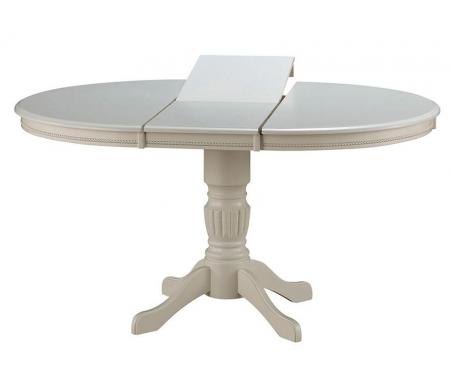 Стол обеденный-раскладной Iren молочныйДеревянные столы<br>Стол Iren молочный - небольшая классическая модель, которая прекрасно впишется в интерьер столовой или кухни. <br>Благодаря специальной вставке размер столешницы можно увеличить на 35 см.<br><br>Длина: 106 см (раскладывается до 141 см)<br>Ширина: 106 см<br>Высота: 75 см<br>Материал каркаса: массив гевеи<br>Материал столешницы: МДФ, покрытый шпоном<br>Цвет: молочный
