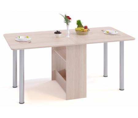 Стол-книжка СП-04М.1 беленый дубДеревянные столы<br>Ножкистола-книжки СП-04М изготовлены из металла. Столешница, с закругленными углами, выполнена из ламинированной ДСП толщиной 16 мм. <br><br> <br> <br>  <br> <br> <br>Стол поставляется в разобранном виде (1 упаковка).<br>