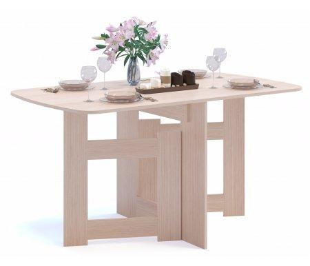 Стол-книжка СП-08 беленый дубДеревянные столы<br>Столешница изготовлена из ламинированной ДСП, толщиной 16 мм. <br> <br>  <br> <br> <br>Поставляется в разобранном виде.<br>
