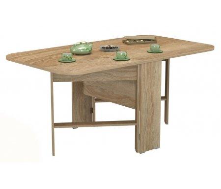 Стол-книжка СТ 80-02 (VK) дуб сономаДеревянные столы<br>Стол изготовлен из высококачественной ламинированной ДСП (относящейся к самой экологичной группе ДСП).<br><br>  <br><br><br>Столешница толщиной 22 мм имеет закругленные углы и складывается до 26 см, что делает стол оптимальным для небольших помещений.<br>