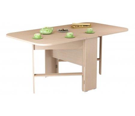 Стол-книжка СТ 80-02 (VK) молочный дубДеревянные столы<br>Стол изготовлен из высококачественной ламинированной ДСП (относящейся к самой экологичной группе ДСП).<br><br>  <br><br><br>Столешница толщиной 22 мм имеет закругленные углы и складывается до 26 см, что делает стол оптимальным для небольших помещений.<br>