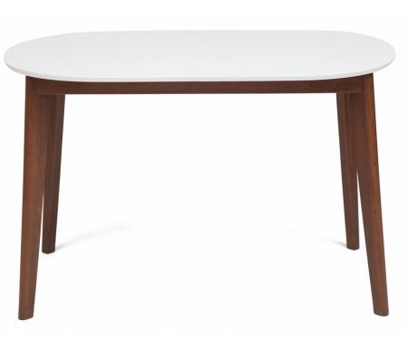 Купить Стол обеденный Тетчер, Bosco 120 х 30 х 80 см раскладной белый / коричневый, коричневый / белый