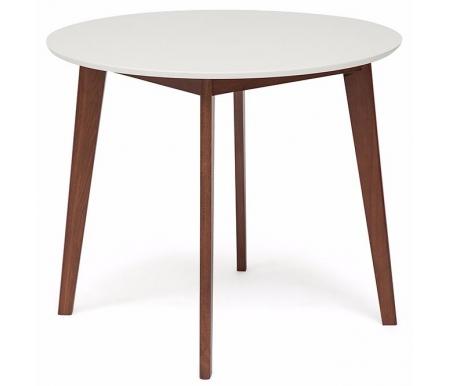 Купить Стол обеденный Тетчер, Bosco D90 белый / коричневый, коричневый / белый