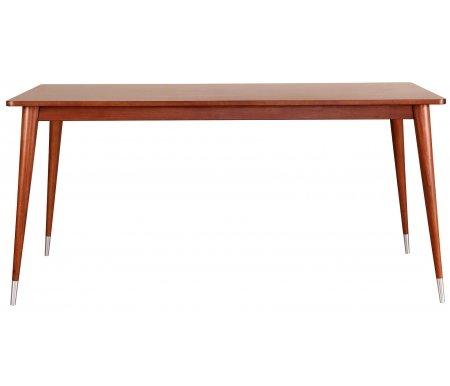 Стол обеденный Bruni BR-08Деревянные столы<br>Изделие выполнено из американского тополя. Ножки снизу декорированы металлическими вставками. Механизм разложения отсутствует.<br>