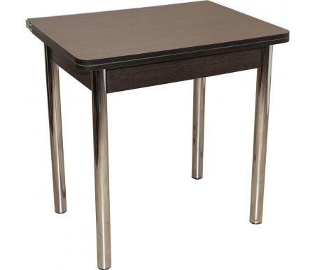 Купить Стол обеденный Red Black, ЛС-831 береза эрмана темная / ножки хром, ножки хром, подстолье и кромка венге, верх столешницы золото береза эрмана