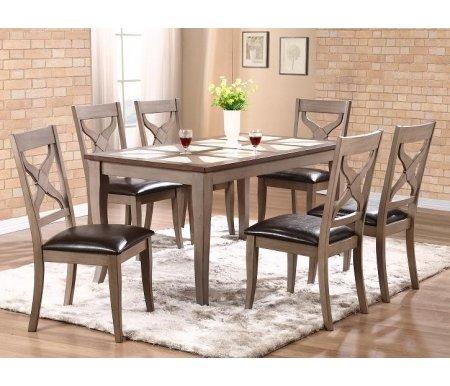 Купить Стол обеденный Мебель Малайзии, LT T15348 dark oak K250 / grey G41