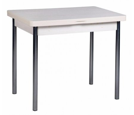 Стол обеденный Орфей 1.2 дуб КобургДеревянные столы<br>Орфей 1.1 - практичный стол, столещница которого, благодаря поворотному механизму, увеличивается вдвое. Ножки изготовлены из металлических труб диаметром 38 мм, отделаны под хром. Внутри есть скрытая полка для хранения. Выполнен из ЛДСП (16 и 22 мм) и ПВХ (0,4 и 2 мм). Поставляется в цветах - дуб Венге, ясень Шимо темный, Ольха и дуб Кобург.<br>