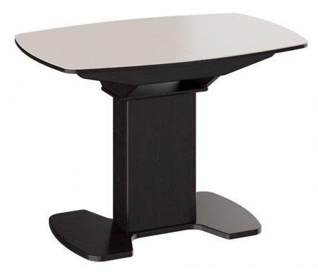 Стол обеденный Портофино СМ (ТД)-105.02.11 (1) венге / бежевыйДеревянные столы<br>Обеденный стол Портофино имеет механизм раскладки бабочка.<br>Направляющие синхронного раздвижения позволяют регулировать размеры столешницы плавно и без усилий.<br><br>Для оформления поверхности столешницы используется сверхпрочное огнеупорное стекло.<br>