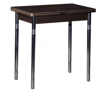Стол Орфей 8 дуб венгеДеревянные столы<br>Орфей 8 - обеденный стол с поворотным механизмом, благодаря которому столешница увеличивается вдвое. Стол отличается необычными ножками под хром (диаметр 38 мм, сужаются к низу до 32-х мм), декорированными резьбой в верхней части. Внутри есть скрытая полка для хранения. Стол выполнен из ЛДСП (16 мм) и ПВХ (0,4 и 2 мм). Поставляется в двух цветах - Ольха и дуб Кобург.<br>