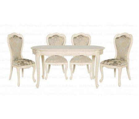 Стол овальный Милано 528Деревянные столы<br>Элегантный овальный стол 528, без сомнения, будет изюминкой Вашей гостиной. <br>Изогнутые ножки и резной узор в сочетании с благородным цветам привносят в интерьер атмосферу аристократической роскоши.<br> <br>Декоративные элементы выполнены из полимерной массы.<br> <br> <br>  <br> <br> <br>Товар доставляется в разобранном виде - 1 упаковка.<br>