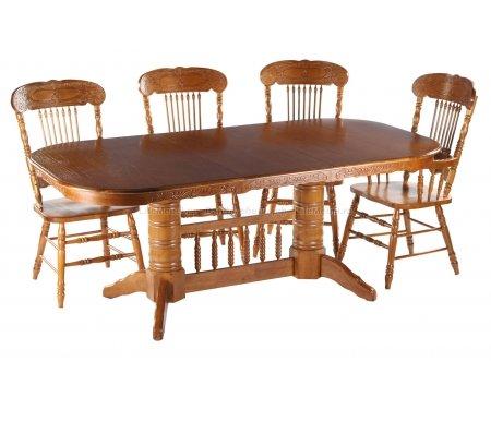 Стол PoseidonДеревянные столы<br>Стол Poseidon большой, раскладной, резные спаренные ножки, подойдет как для дачи так и для дома, за которым Вы сможете разместить большую дружную компанию.<br>
