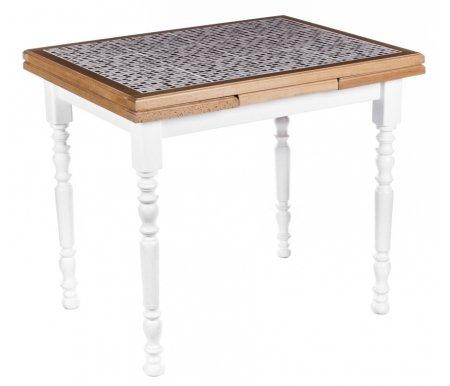 Стол PROVENCE SH 90*70 MosaiqueДеревянные столы<br>Стол PROVENCE SH раскладывается до 150 см. Цвет столешницы -Mosaique. <br>Упакован в одну коробку, поставляется в разобранном виде.<br>