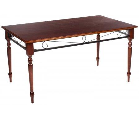 Стол PS 502Деревянные столы<br>Каркас стола PS 502 изготовлен из массива гевеи, столешница выполнена из МДФ и покрыта шпоном, отделка стола - металл, покрытый черной краской.<br>