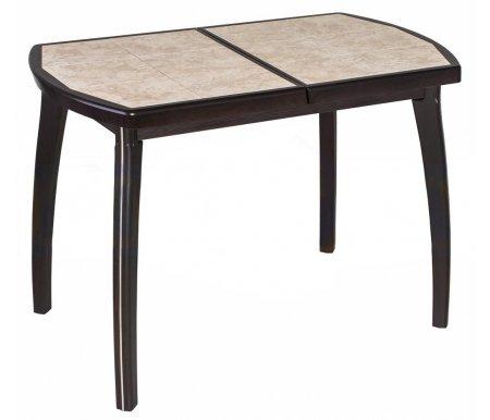 Стол Шарди ПО венге / плитка №98 / ножка 07 кремДеревянные столы<br>Стол Шарди ПО овальной формы выполнен из МДФ.<br> <br>  Столешница имеет отделку пленкой PVC при помощи вакуумного прессования.<br> <br>  Керамическая плитка защищает стол как от физического, так и от температурного воздействия.<br> <br>  Благодаря специальной вставке длина столешницы увеличивается на 37 см.<br> <br>  Вставка выполнена из МДФ и хранится внутри модели.<br>