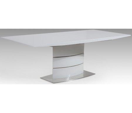 Стол SOLIDOДеревянные столы<br>Стол SOLIDO раскладывается до 180 см благодаря центральной вставке-бабочке, которая скрыта внутри стола. <br><br> Основание и столешница покрыты лаком.<br><br>Длина: 140 см (раскладывается до 180 см)<br>Ширина: 90 см<br>Высота: 75 см<br>Материал каркаса: нержавеющая сталь, МДФ<br>Цвет каркаса: белый (HB)<br>Материал столешницы: МДФ, покрытый лаком<br>Цвет столешницы: белый (FAHB)