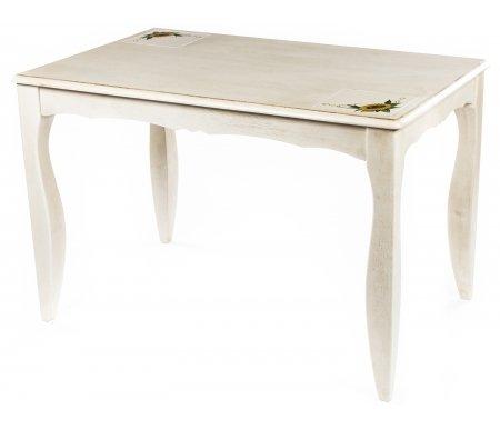 Стол CIVIC CT 3345PДеревянные столы<br>Столешница украшена вставками-плитками с цветочным рисунком (расположены по диагонали).<br>