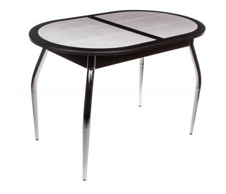Стол Стамбул О СМ-220.03.1 венге / вилла медичиДеревянные столы<br>Прекрасный обеденный стол Стамбул О СМ-220.03.01создан для современной кухни.<br> <br><br> <br>Стол раскладывается до максимальной длины 147,5 см. Механизм раздвижения - синхронный, вставка бабочка. Ножки выполнены из хромированного металла. Стол имеет оригинальную столешницу, выполненную из керамической плитки.<br> <br>Стол представлен в трех вариантах исполнения:<br> <br>- Венге / Вилла Медичи.<br> <br>- Венге / Орхидея белая.<br> <br>- Дуб Белфорт / Орхидея коричневая.<br>