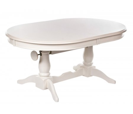 Стол-трансформер раскладной Galeon butter whiteДеревянные столы<br>Стол-трансформер Galeon, изготовленный полностью из массива гевеи, представляет из себя идеальный кухонный стол. Он крепкий, долговечный, устойчив к перепадам температуры, а через многие годы эксплуатации способен преобразиться и стать снова абсолютно новым после простейшей реставрации. <br> <br>  <br> <br> <br> Уникальное свойство для данного дизайна стола - возможность зафиксировать высоту стола в двух положениях: 54 см или 72 см.<br>