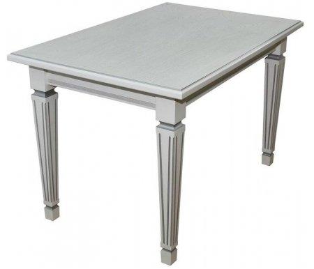 Купить Стол Мебелик, Васко 02 150 х 80 см белый / патина