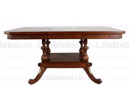Стол XODT B4866 OPTДеревянные столы<br><br><br>Длина: 122 см (раскладывается до 167 см)<br>Ширина: 122 см<br>Высота: 76 см<br>Материал столешницы: МДФ, шпон<br>Материал ножек: массив гевеи<br>Цвет: OAK#2 (дуб в красноту)