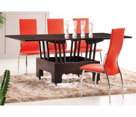 Купить Обеденная группа ESF, стол трансформер B2202 венге и 4 стула 2368