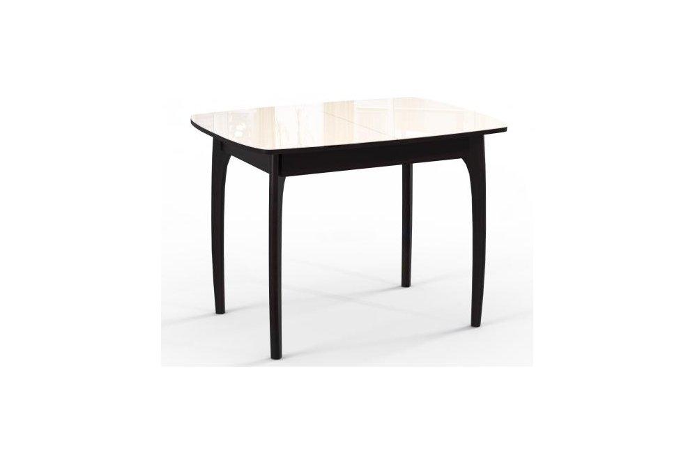 Обеденный стол М15 ДН4 венге/стекло бежевое