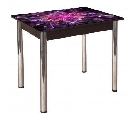 Обеденный стол Гранд 10К-8 кухонный с фотопечатью венгеСтекло + дерево<br>Полноцветная фотопечать стола.<br>