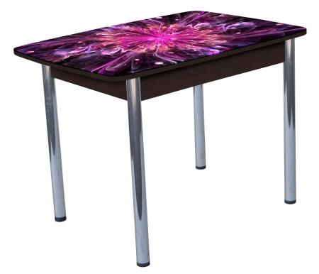Обеденный стол Гранд 11К кухонный с фотопечатью венгеСтекло + дерево<br>Полноцветная фотопечать стола, синхронный механизм раз движения, безопасная кромка стекла.<br>
