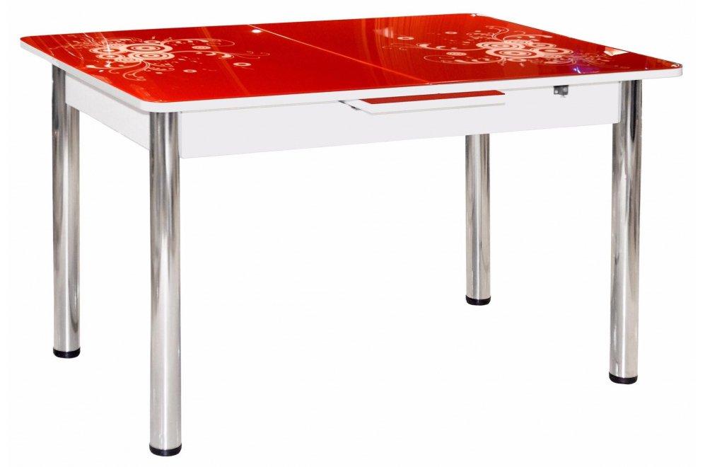 Обеденный стол Грация красный / белый
