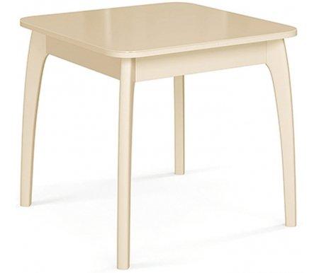 Купить Стол ДИК Мебель, 45 ДН4 слоновая кость / стекло бежевое