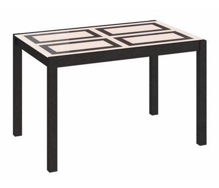 Стол Диез Т5 стекло с рисунком С-346Стекло + дерево<br>Современный стильный стол Диез Т5. Грациозное сочетание древесной текстуры и стекла украсит любой интерьер. Ножки и подстолье изготовлены из массива бука, столешница - ЛДСП, стекло.<br><br>Длина: 90 см (раскладывается до 166 см)<br>Ширина: 74 см<br>Высота: 74 см<br>Материал каркаса: массив бука<br>Цвет каркаса: венге<br>Материал столешницы: ЛДСП, стекло<br>Вес: 34 кг