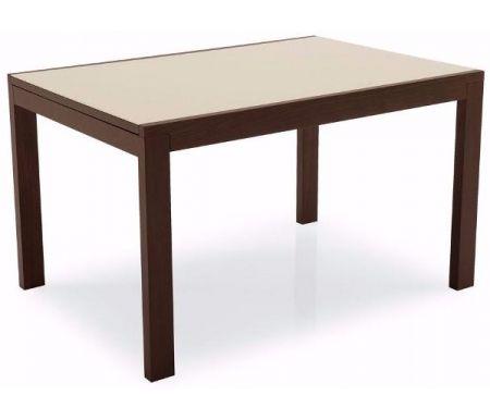 Стол NEW SMART  70 х 110 см венге / стекло бежевоеСтекло + дерево<br>Каркас стола изготовлен из массива дерева, столешница - закаленное стекло. Стол обладает удобным механизмом раскладки.<br> <br> <br>  <br> <br> <br>Приятная особенность стола NEW SMART - стекло столешницы располагается на дереве, что значительно приглушает звуки (допустим, когда вы ставите на стол тарелку или чашку), а ведь именно из-за этого люди чаще всего отказываются от стеклянных столов.<br>
