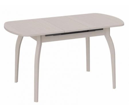 Стол обеденный Милан СМ-203.21.15 на деревянных ножках  дуб белфордДеревянные столы<br>Ножки стола изготовлены из массива сосны, подстолье и столешница - ЛДСП.<br>Максимальная длина - 141,5 см.<br>